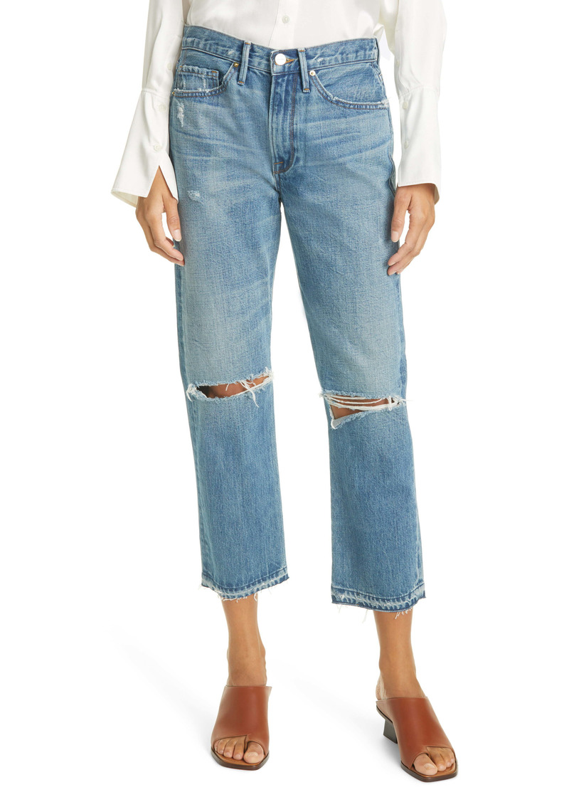 FRAME Heritage Piper Released Hem Jeans (Peralta Rips)