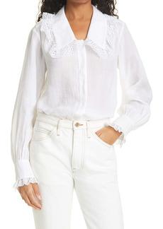 FRAME Lace Collar Shirt