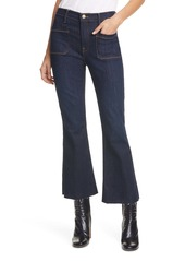 FRAME Le Bardot High Waist Raw Edge Crop Jeans (Sutherland)