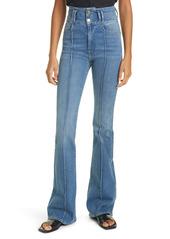 FRAME Le Catroux Center Seam High Waist Flare Jeans (Ashton)
