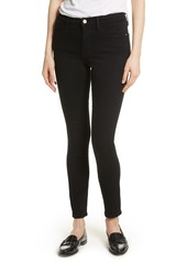 FRAME Le Color High Waist Skinny Jeans (Film Noir)