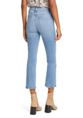 FRAME Le Crop High Waist Mini Boot Jeans (Melville)