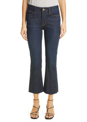 FRAME Le Crop Mini Boot High Waist Raw Hem Jeans (Saltair)