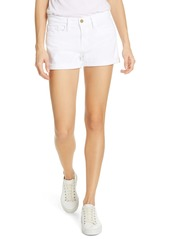 FRAME Le Cutoff Denim Shorts (Blanc)