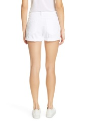 FRAME Le Cutoff Denim Shorts (Blanc)