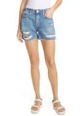 FRAME Le Grand Garcon High Waist Denim Shorts