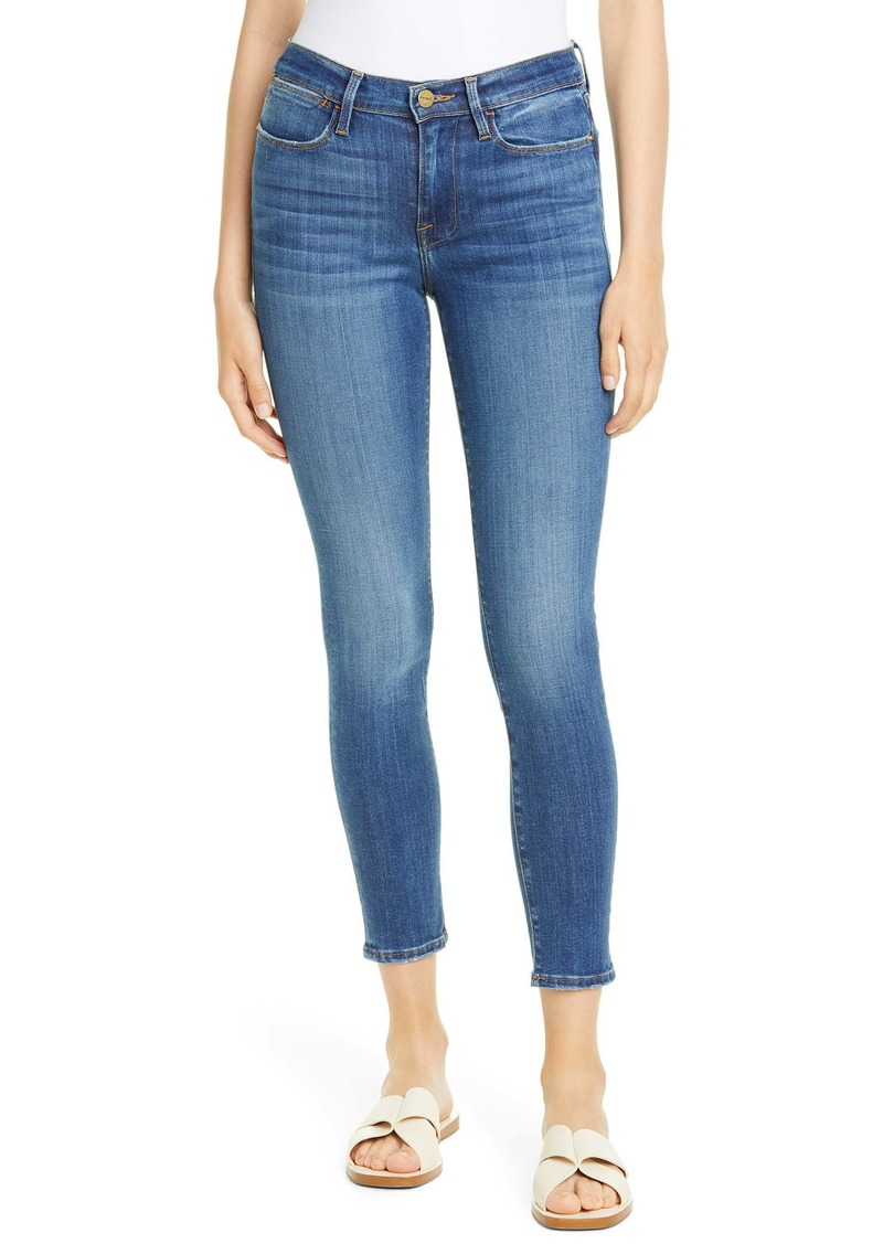 FRAME Le High Ankle Skinny Jeans (Poe)