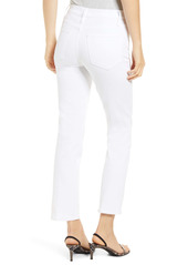FRAME Le High Ankle Straight Leg Jeans (Blanc)