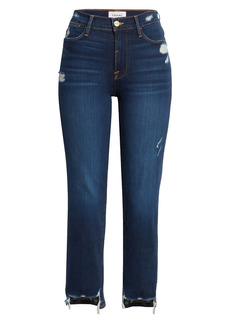 FRAME Le High Chewed Hem Ankle Straight Leg Jeans