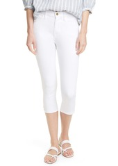 FRAME Le High Pedal Pusher Jeans (Blanc)