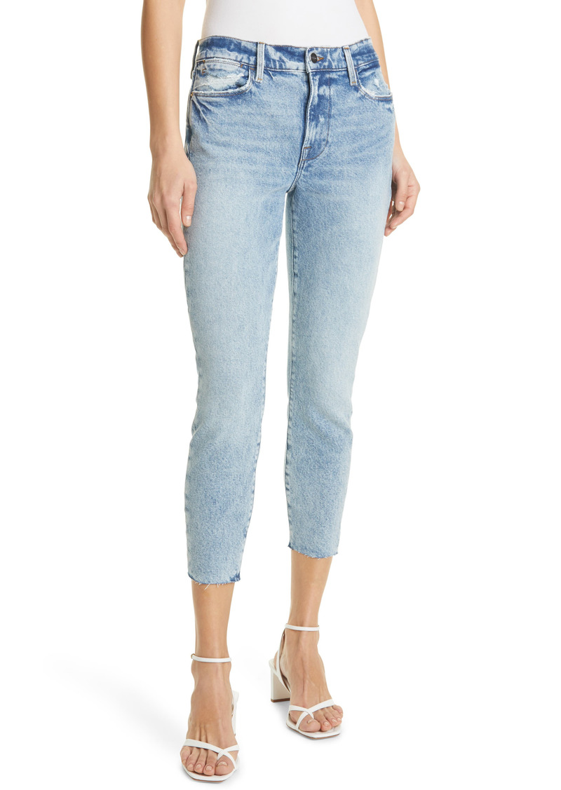 FRAME Le High Raw Edge Crop Skinny Jeans (Lombard)