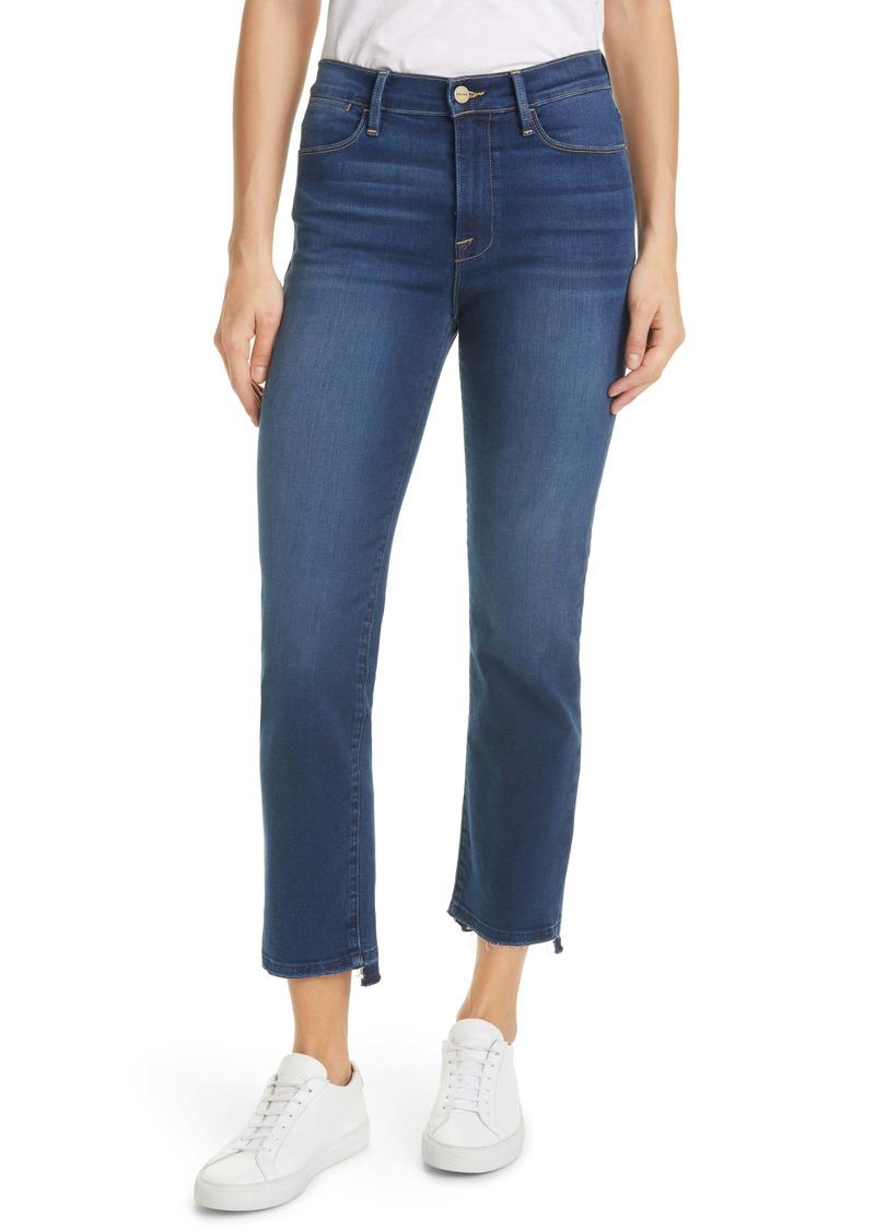 FRAME Le High Released Hem Ankle Straight Leg Jeans (Cobbert)