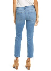 FRAME Le High Ripped Straight Leg Jeans (Laskey Rips)