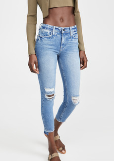 FRAME Le High Skinny Crop Release Stagger Jeans