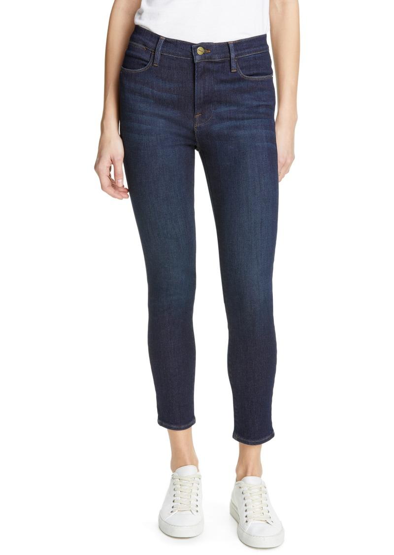FRAME Le High Waist Crop Skinny Jeans