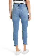FRAME Le High Waist Crop Skinny Jeans (Clarin Rips)
