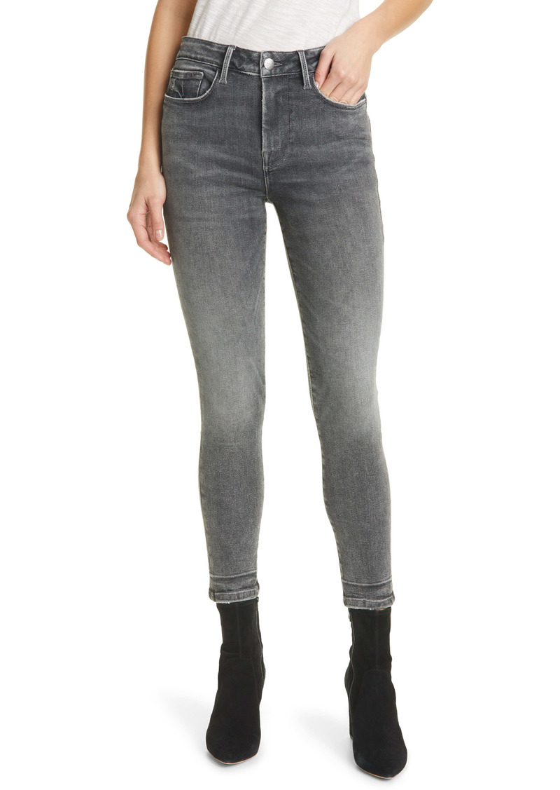 FRAME Le One High Waist Crop Skinny Jeans (Hughes)