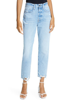 FRAME Le Original Ripped High Waist Crop Jeans (London)