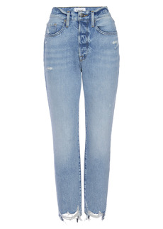 FRAME Le Original Ripped High Waist Crop Jeans (London)