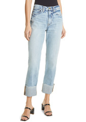 FRAME Le Piper Wide Cuff Crop Straight Leg Jeans (Richlake)