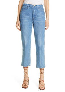 FRAME Le Pixie High Waist Ankle Nonstretch Straight Leg Jeans (Pure Blue) (Petite)