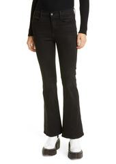 FRAME Le Pixie High Waist Flare Leg Jeans (Blackfish)