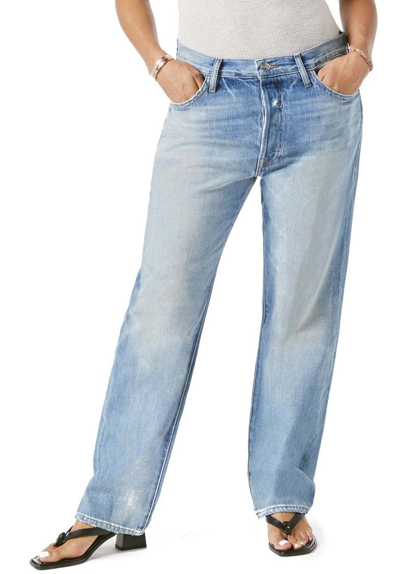 FRAME Le Pixie Slouch High Waist Straight Leg Jeans (Newell)
