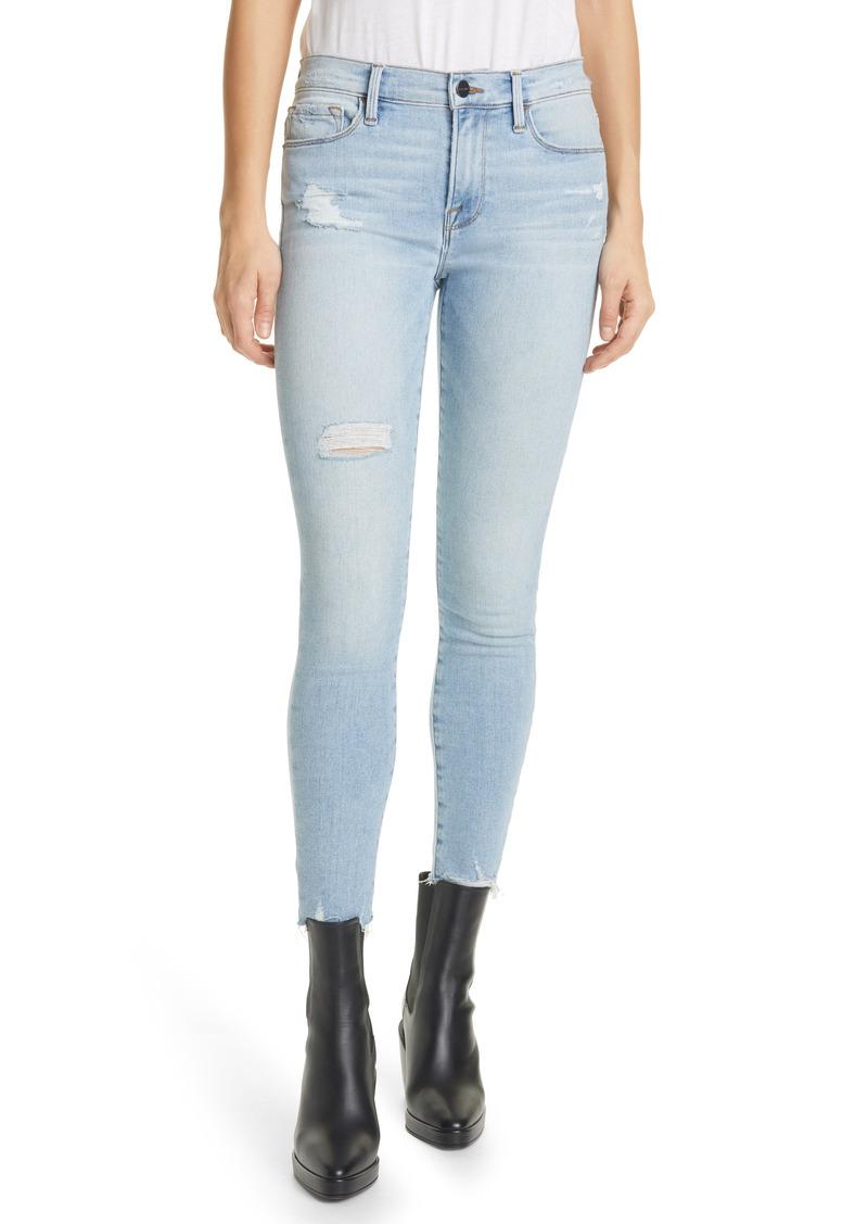 FRAME Le Skinny de Jeanne Raw Hem Ankle Skinny Jeans (Alemany)
