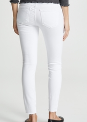 FRAME Le Skinny De Jeanne Stagger Hem Jeans