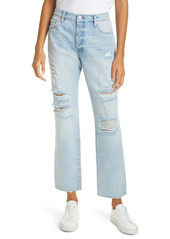 FRAME Le Slouch Distressed High Waist Straight Leg Jeans