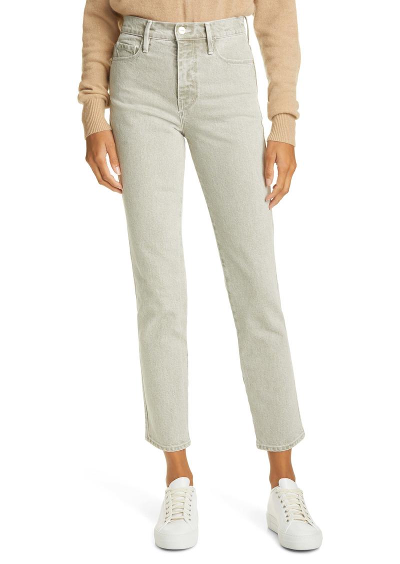 FRAME Le Sylvie High Waist Ankle Straight Leg Jeans