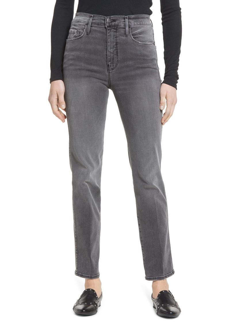 FRAME Le Sylvie High Waist Slender Straight Leg Jeans (Octavia Drive)
