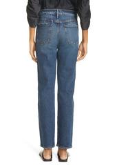 FRAME Le Sylvie High Waist Straight Leg Jeans (Freedman)