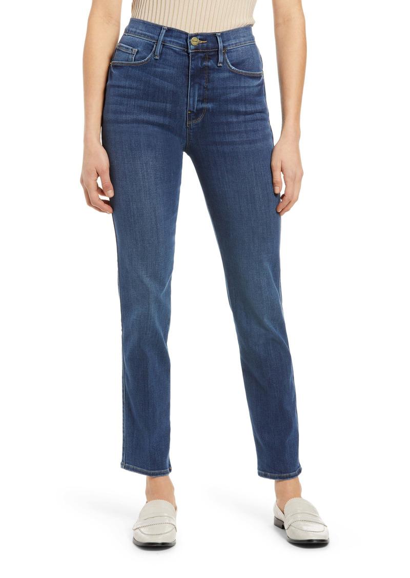FRAME Le Sylvie Slender Ankle Straight Leg Jeans (Stallion)