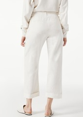 FRAME Le Tomboy High Waist Nonstretch Cuffed Trousers