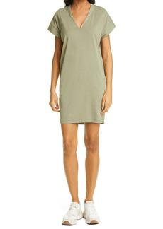 FRAME Le V-Neck Pima Cotton Minidress