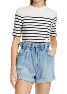 FRAME Mariner Stripe Short Sleeve Sweater