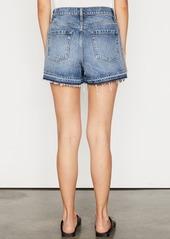 FRAME Mosaic High Waist Raw Hem Nonstretch Denim Shorts (Mesa)