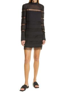FRAME Nora Long Sleeve Silk Dress