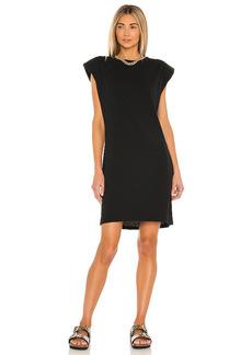 FRAME Padded Shoulder Dress