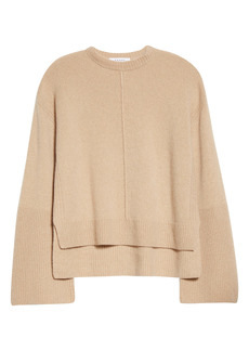 FRAME Recycled Cashmere & Wool Bell Sleeve Oversize Sweater
