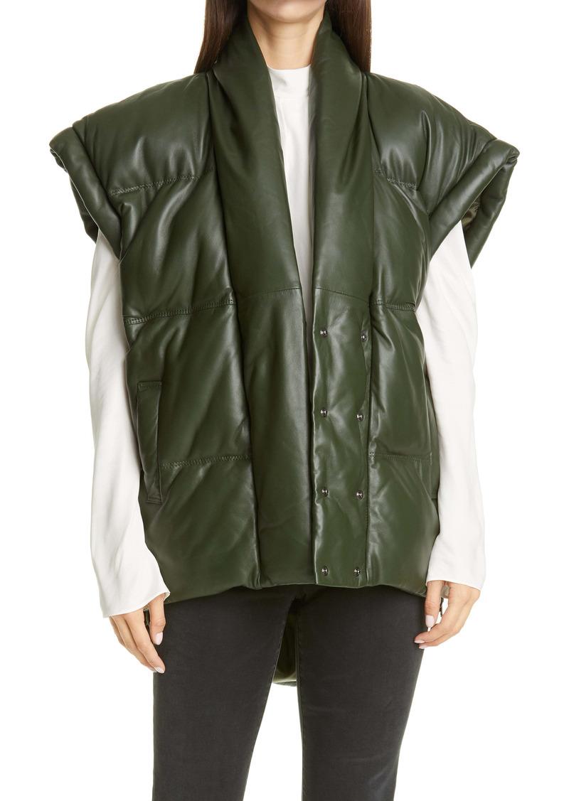 FRAME Sleeveless Leather Puffer Vest