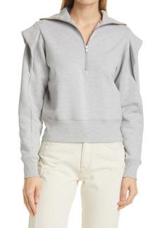 FRAME Sporty Half-Zip Sweatshirt