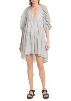 FRAME Stripe High/Low Dress