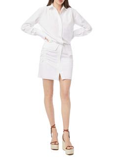 FRAME Tucked Waist Long Sleeve Shirtdress