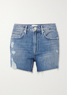 FRAME Le Brigette Distressed Denim Shorts