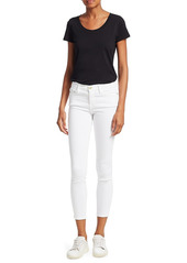 FRAME Le Color Mid-Rise Crop Skinny Jeans