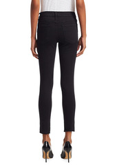 FRAME Le Skinny de Jeanne Mid-Rise Raw-Edge Step Hem Jeans