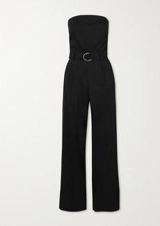 FRAME Strapless Belted Linen-blend Jumpsuit