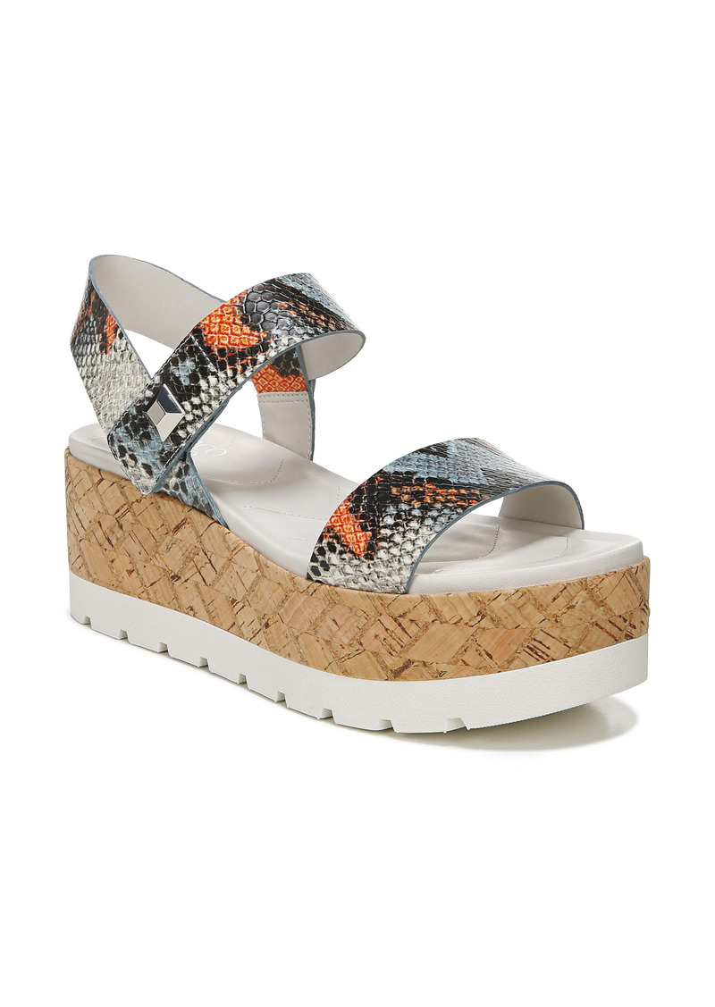 Franco Sarto Francisco Snakeskin Print Platform Wedge Sandal (Women)